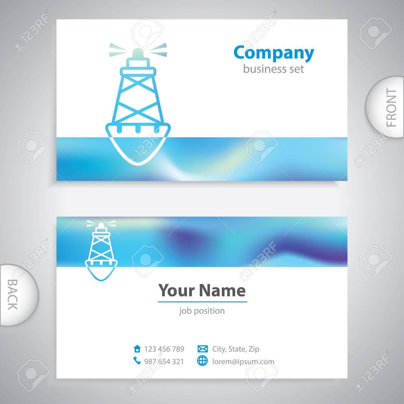 Business card sea buoys marine buoy maritime symbols business card sea buoys marine buoy maritime symbols company presentations stock vector colourmoves