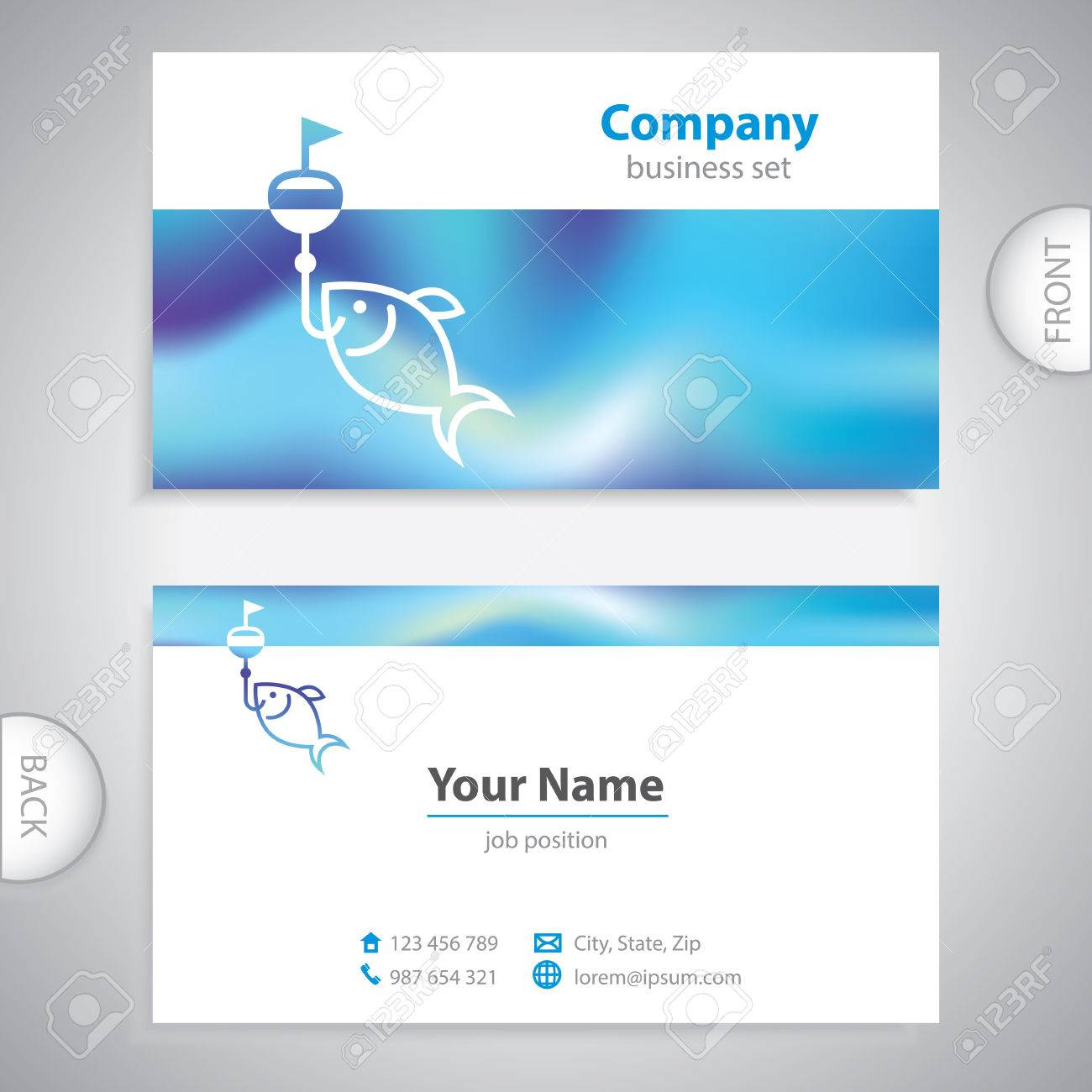 Business Card - Fishing Lures - Nautical Symbol - Company ...