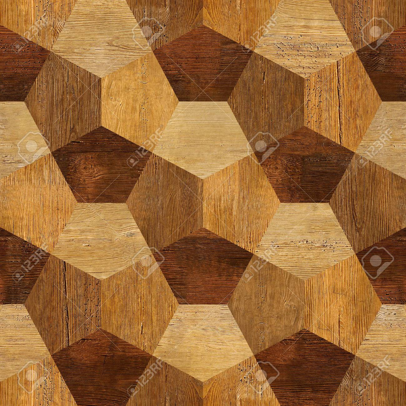 Abstract paneling pattern - seamless pattern - parquet flooring - 39082419