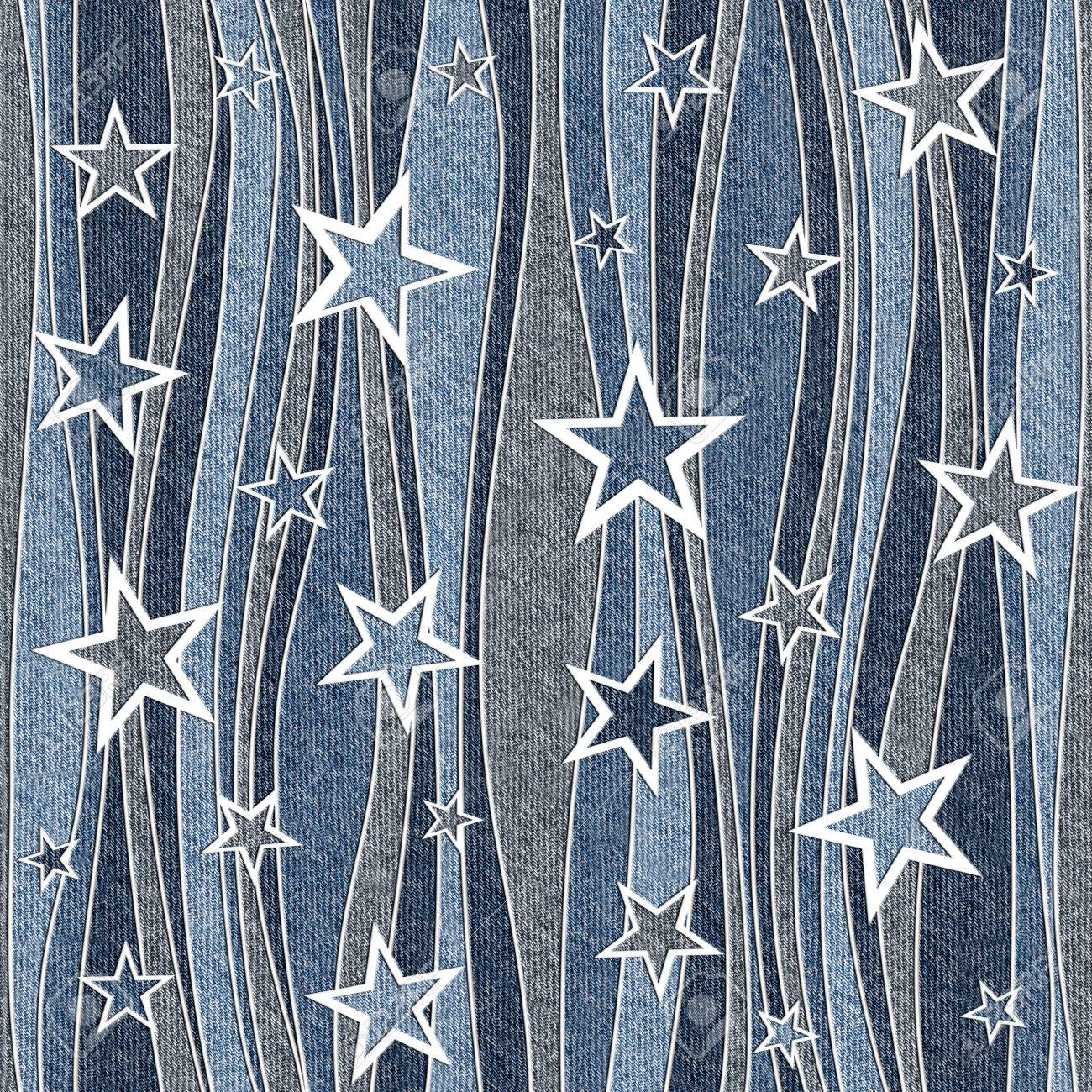 Abstract paneling pattern - seamless pattern - Christmas pattern - blue jeans cloth - 40378247
