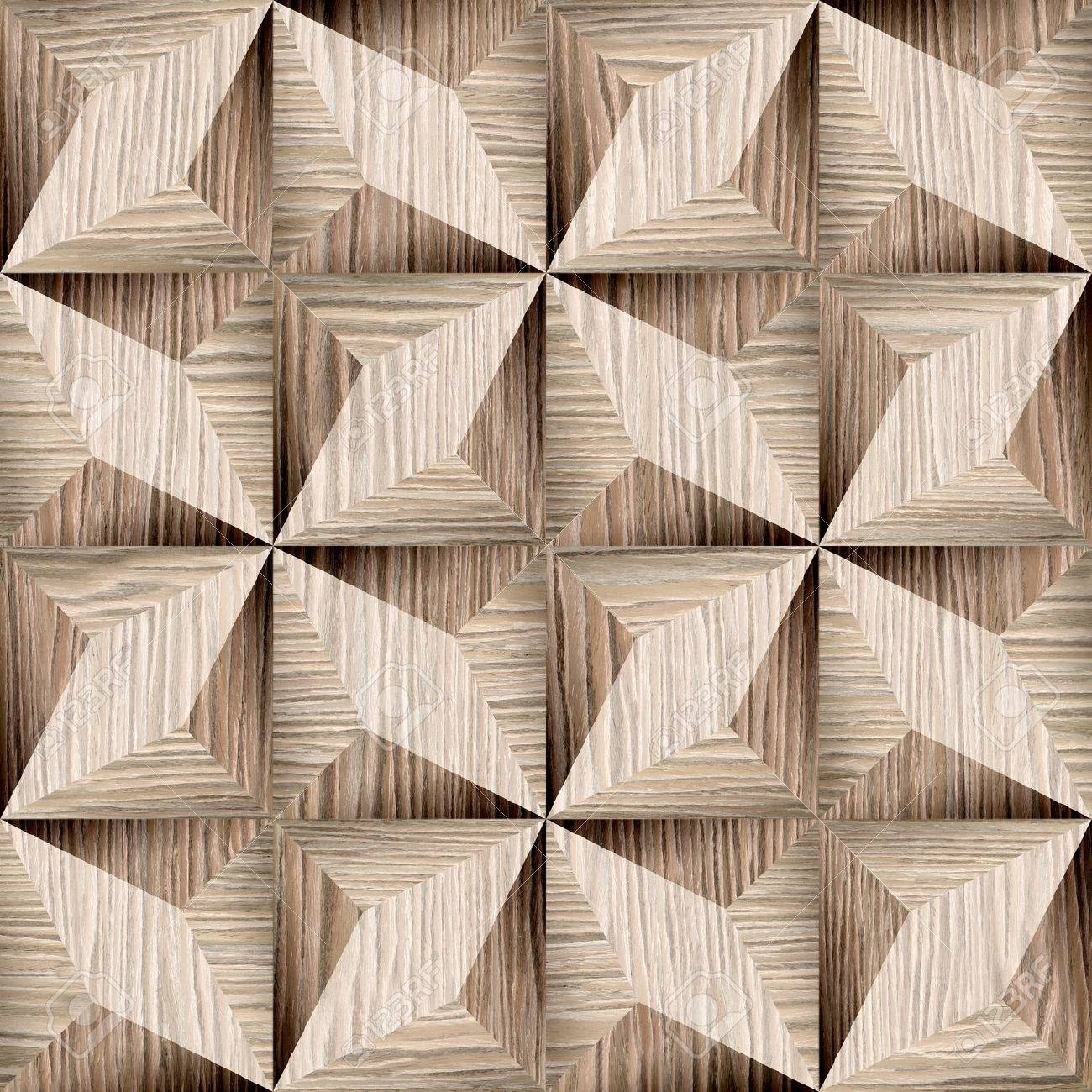 Abstract decorative texture - seamless background - paneling pattern - Blasted Oak Groove wood texture - 40884671