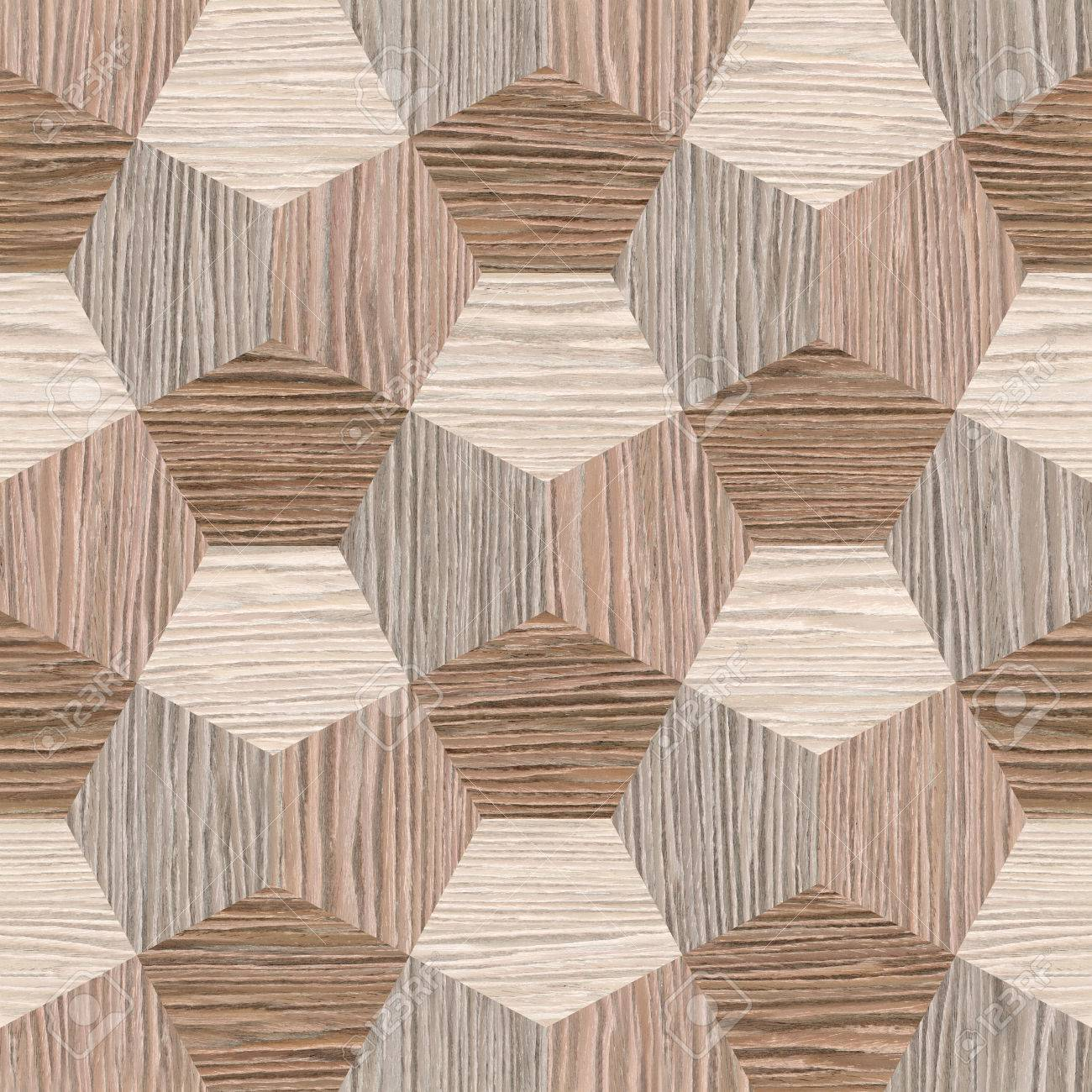 abstract decorative tiles - seamless background - Blasted Oak Groove wood texture - 40884679