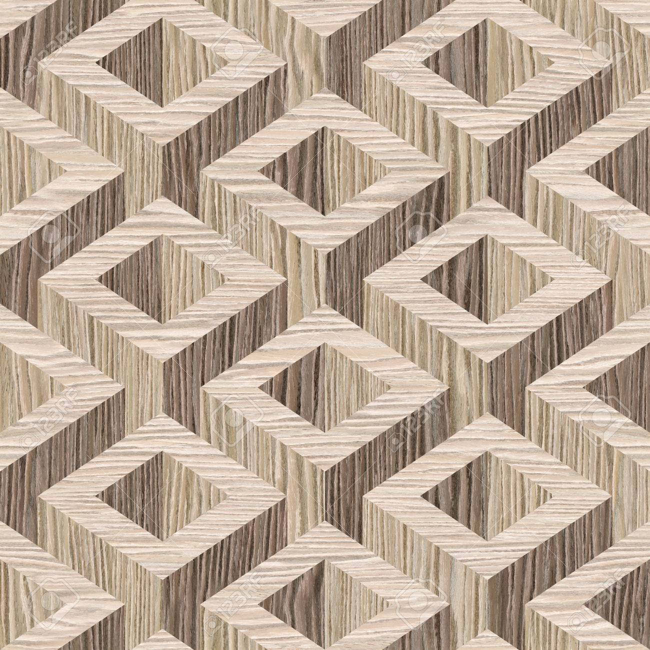 wooden parquet Decoration - seamless background - Blasted Oak Groove wood texture - 41489555