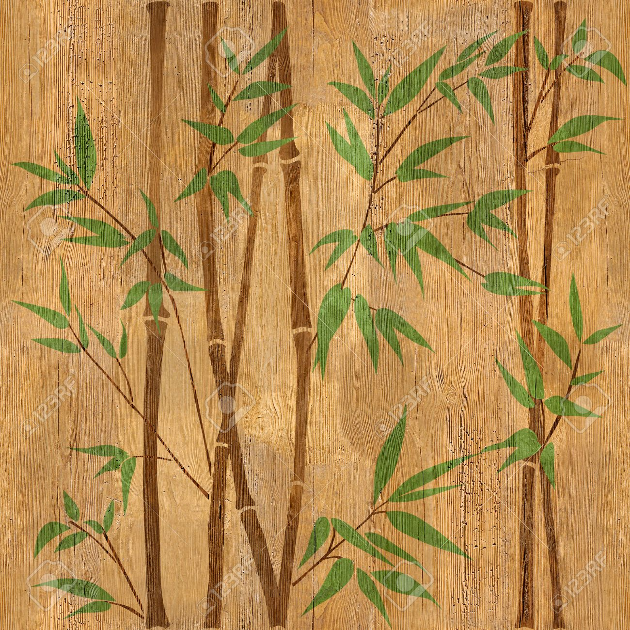 Decorative Bamboo Branches Bamboo Forest Background Seamless