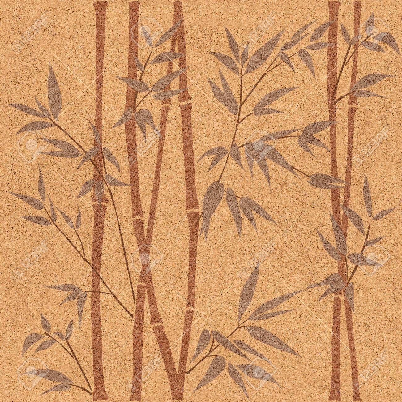 decorative bamboo branches - bamboo forest background - seamless