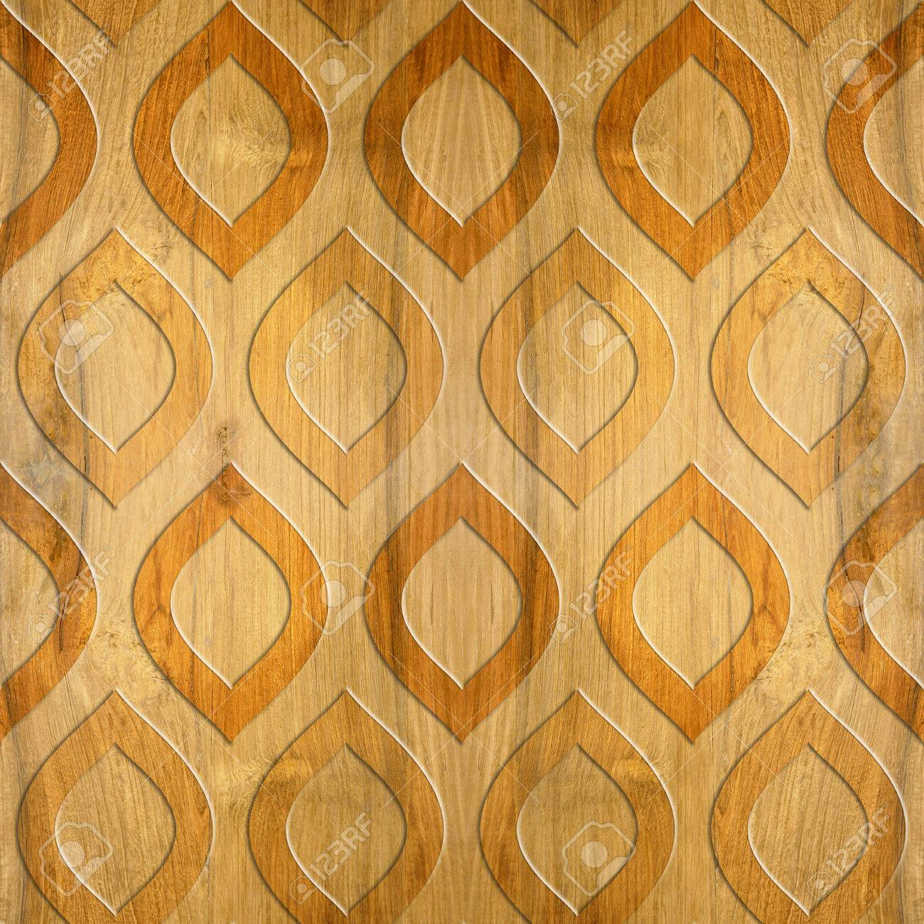 Oriental Decorative Pattern - Cherry Wood Texture - Seamless.. Stock ...