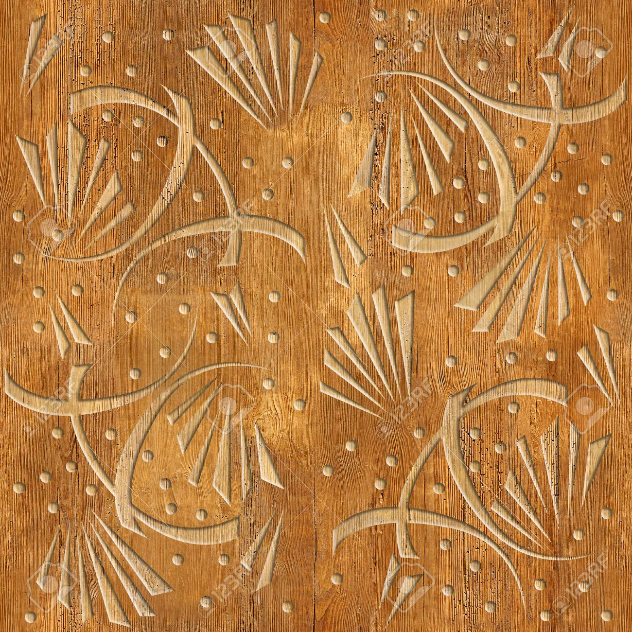 Abstract Decorative Wallpaper Wood Texture Seamless Background