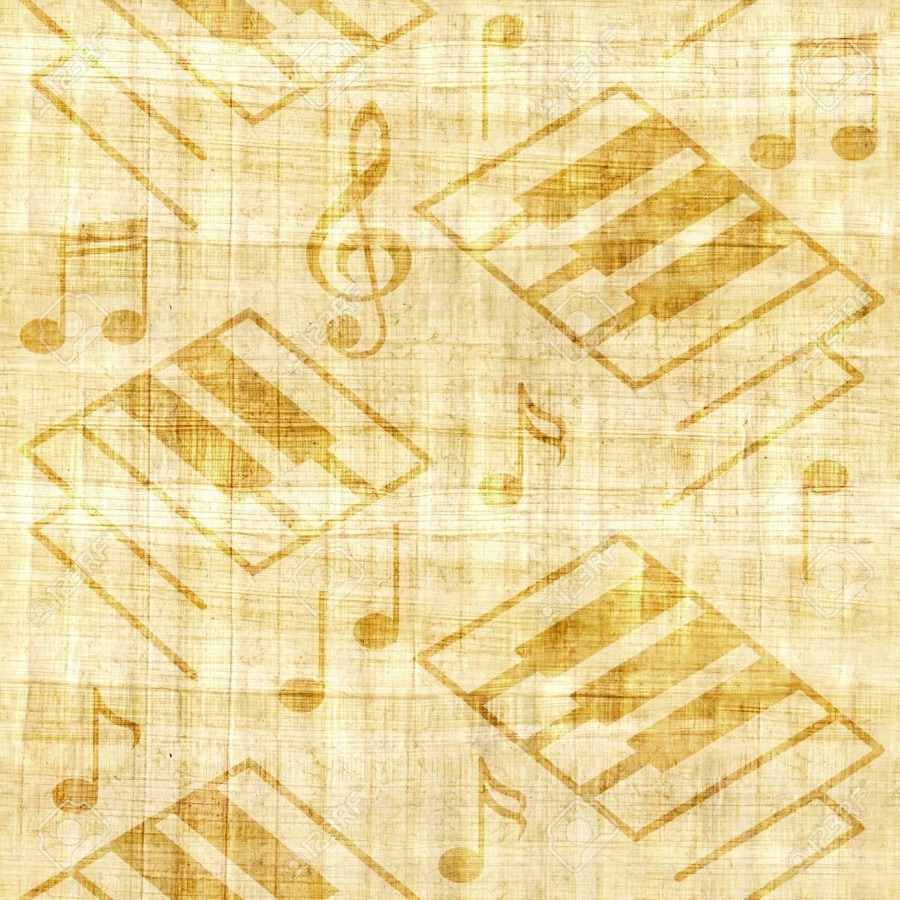 Abstract Decorative Piano Keys - Papyrus Texture - Seamless ...