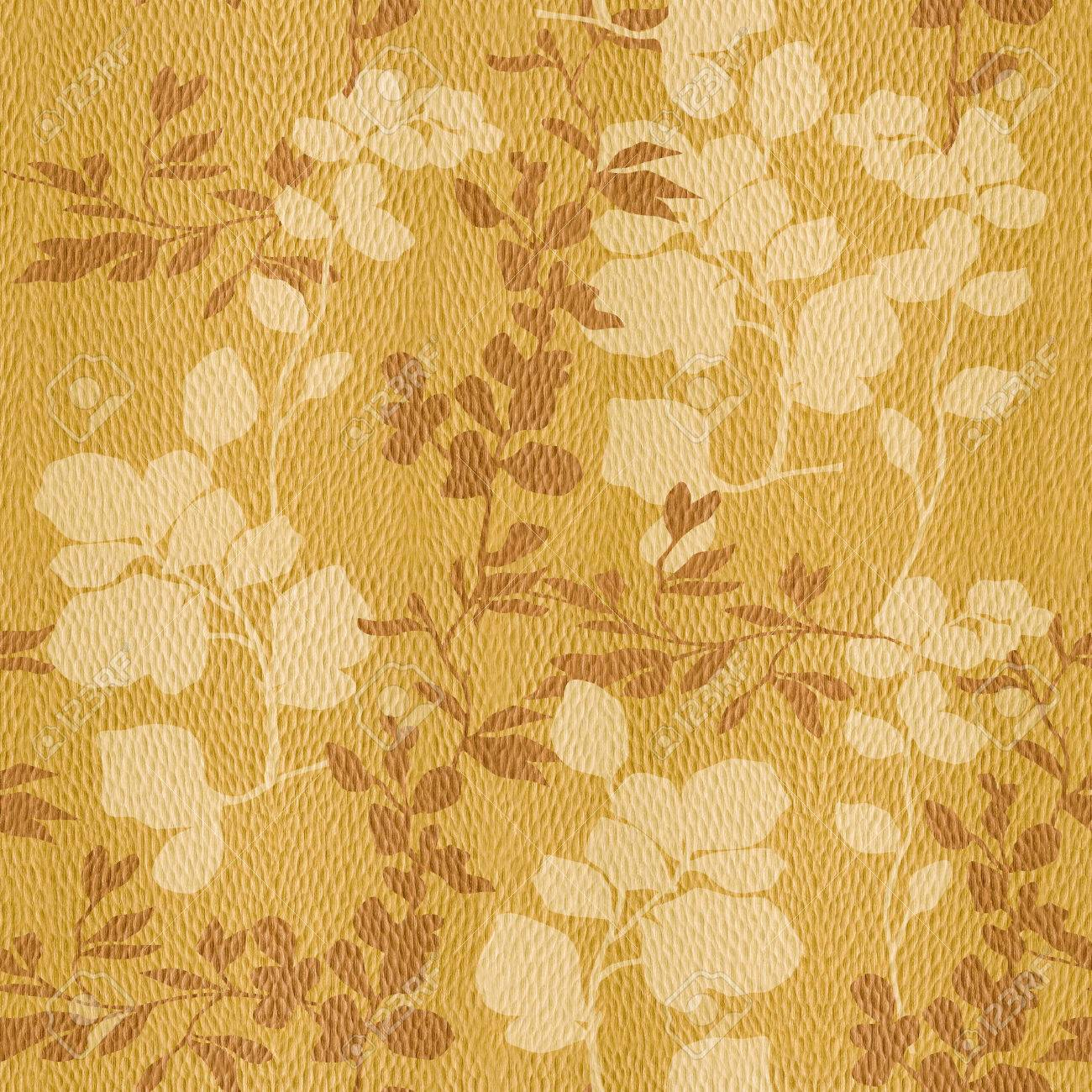 Floral Decorative Pattern - Interior Wall Decoration - White.. Stock ...