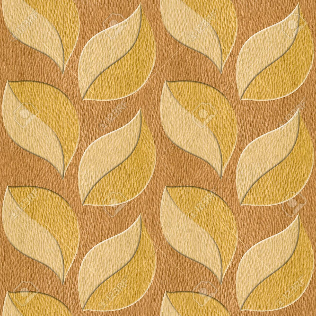 Pattern Of The Decorative Leaves - Interior Wall Decoration ...