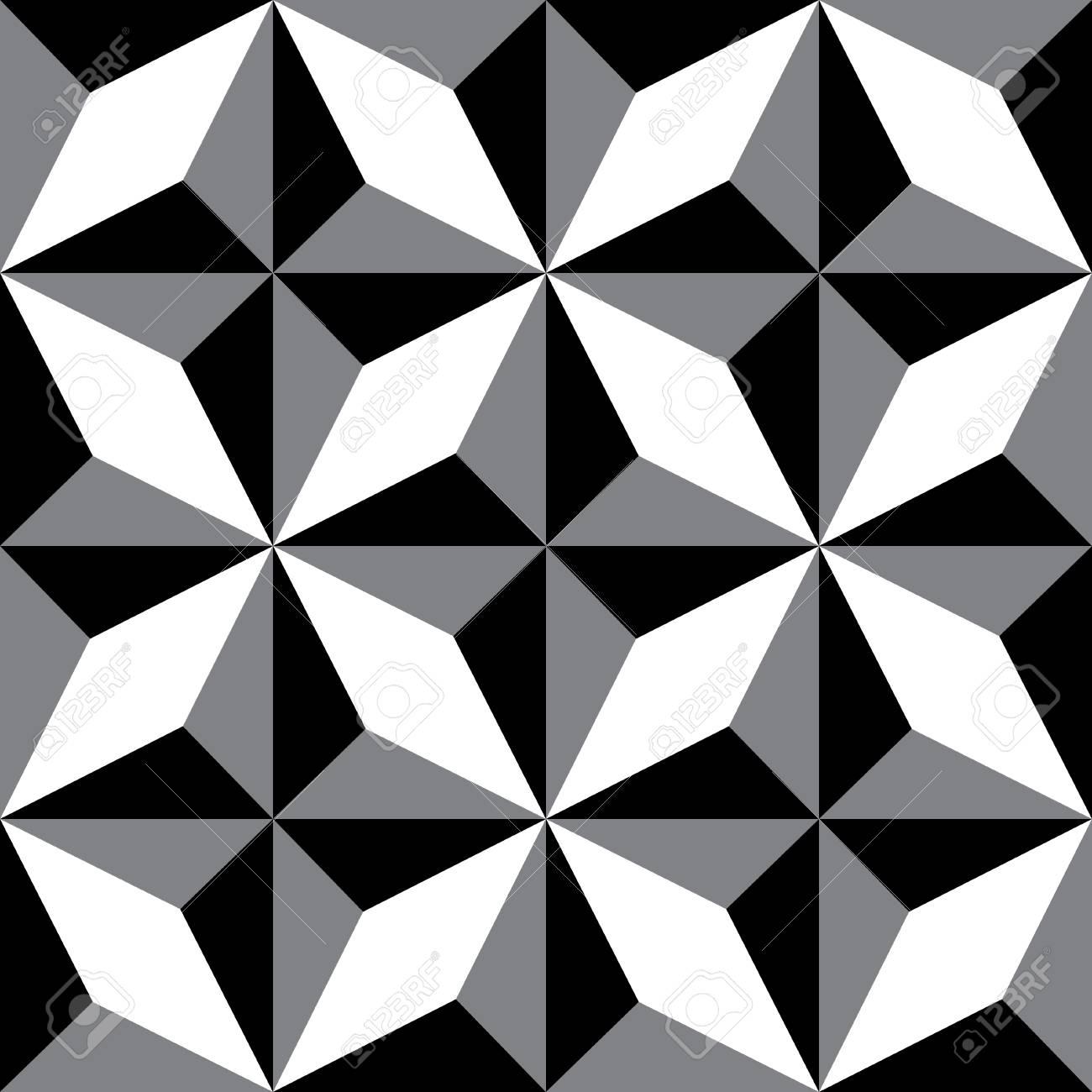 La répétition des motifs géométriques black white texture décorative répéter les tuiles géométriques