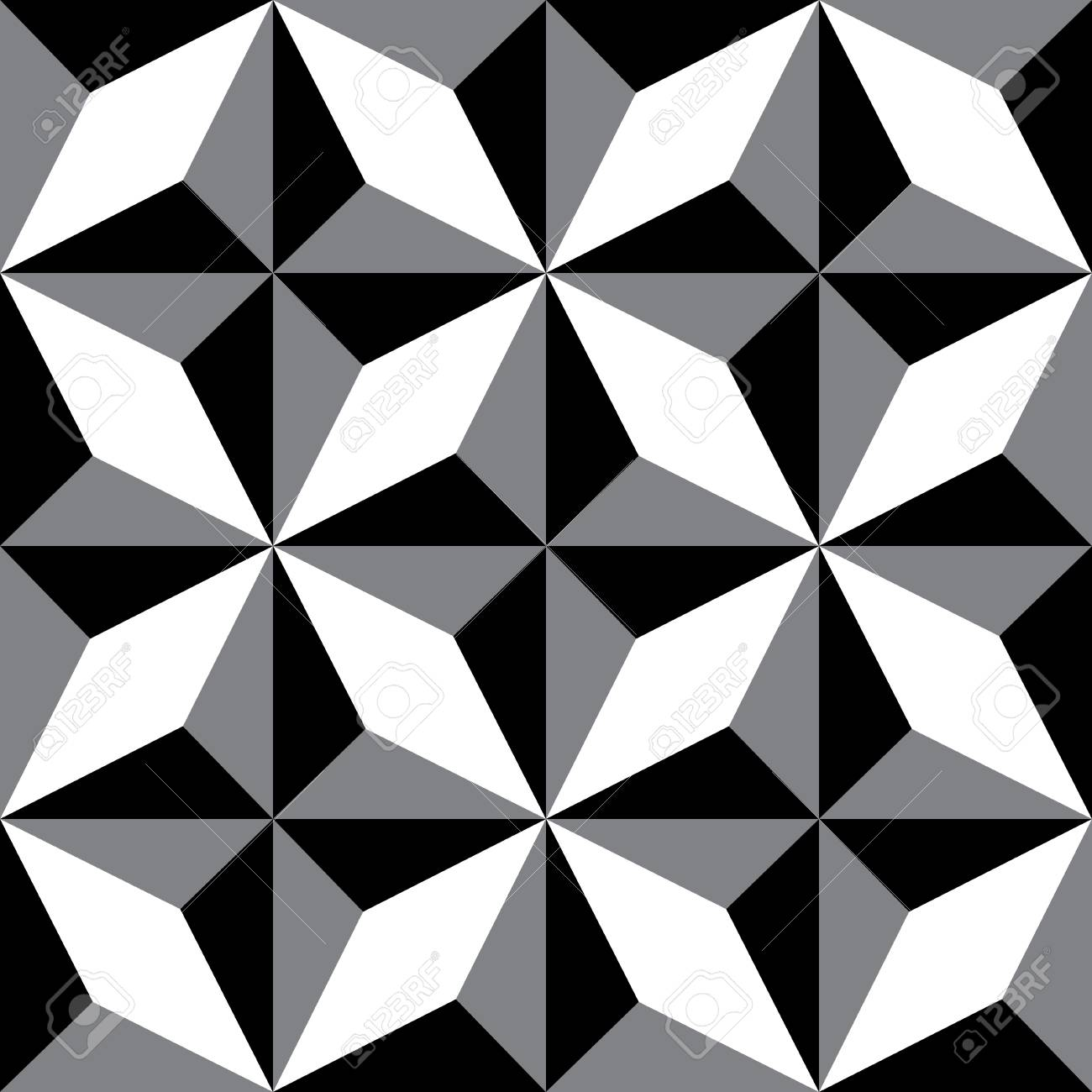 Repeating Geometric Patterns Black White Decorative Texture