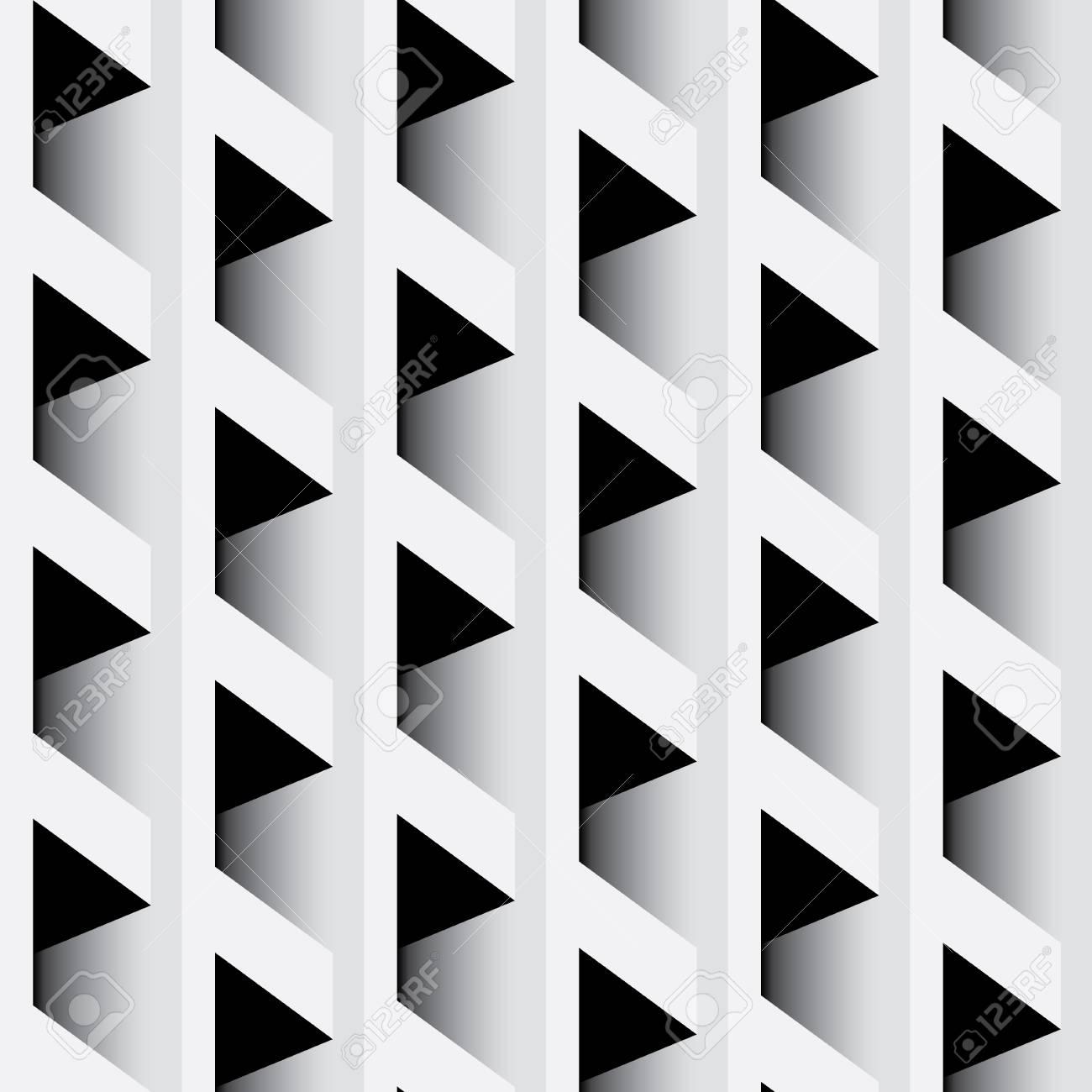 Abstract Paneling Pattern Modern Stylish Texture Black White