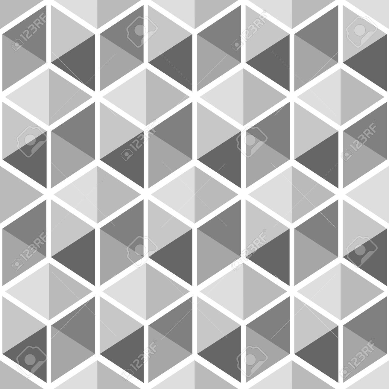 Patrón De Cuadros Decorativos. Vector Patrones Sin Fisuras En Blanco ...