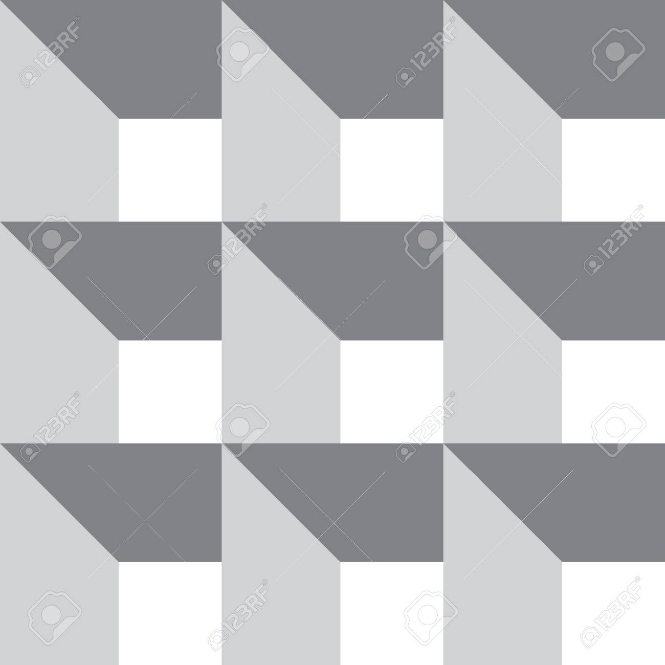 Modelo A Cuadros Decorativos. Patrón De Paneles Abstracto. Vector ...