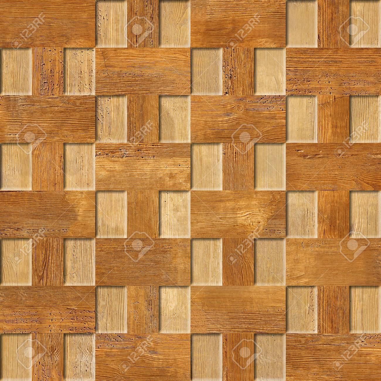 Interior Modelo De Panel De Pared Decorativos Patrón De Mosaico De Fondo Sin Fisuras Textura De Madera De Cerezo