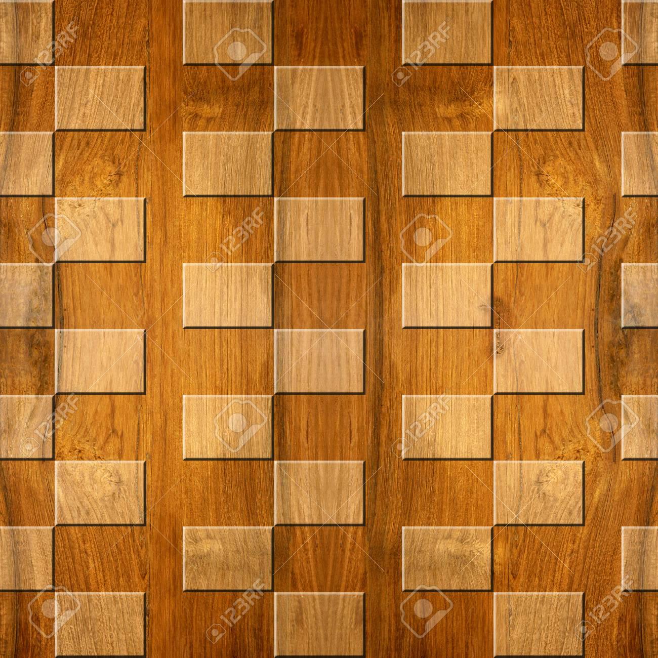 Patrón De Panel De Pared Interior Patrón De Mosaico Decorativo Fondo Transparente Estilo De Cuadros Textura De Madera De Nogal