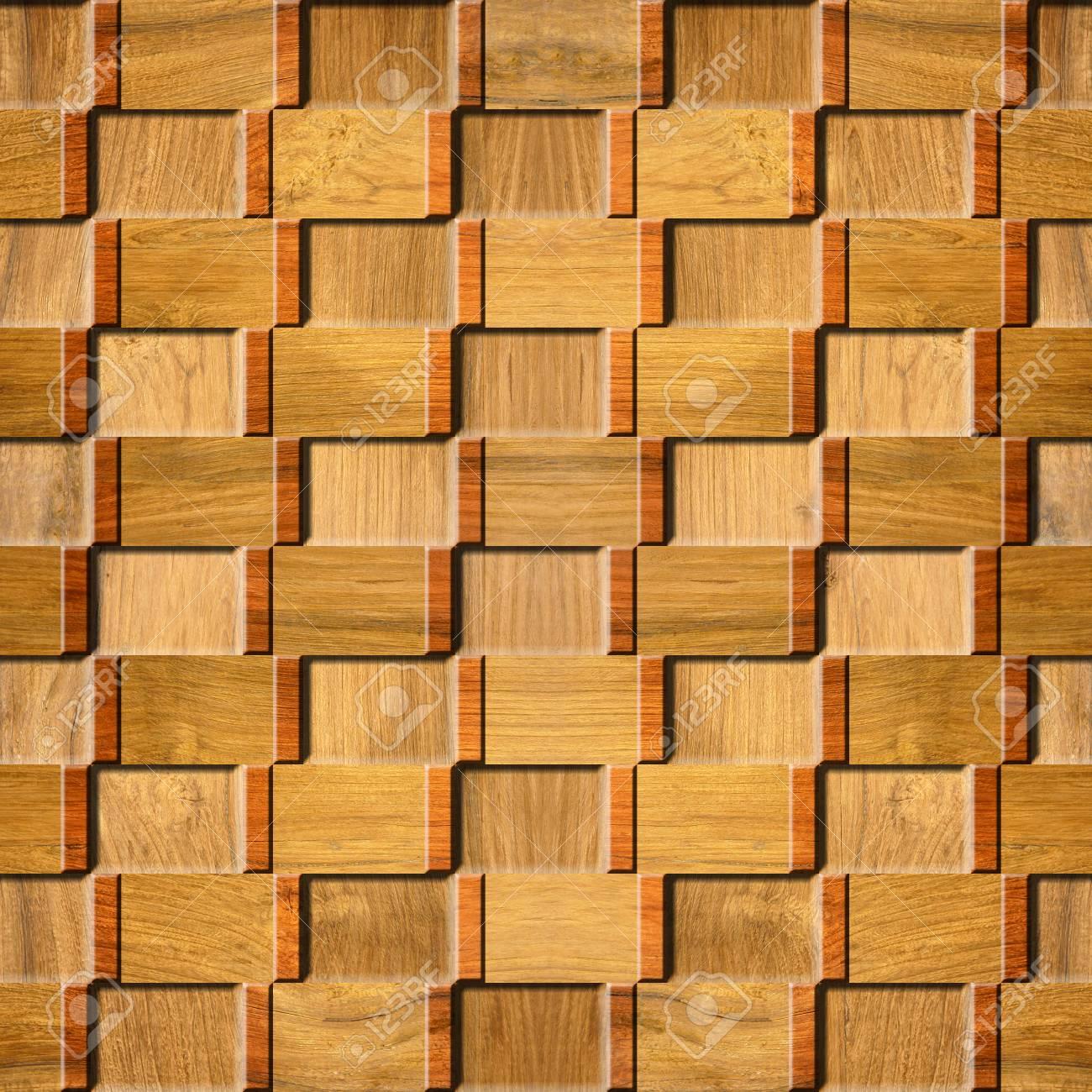 Interior Modelo De Panel De Pared Decorativos Patrón De Mosaico De Fondo Sin Fisuras Estilo De Cuadros Textura De La Madera