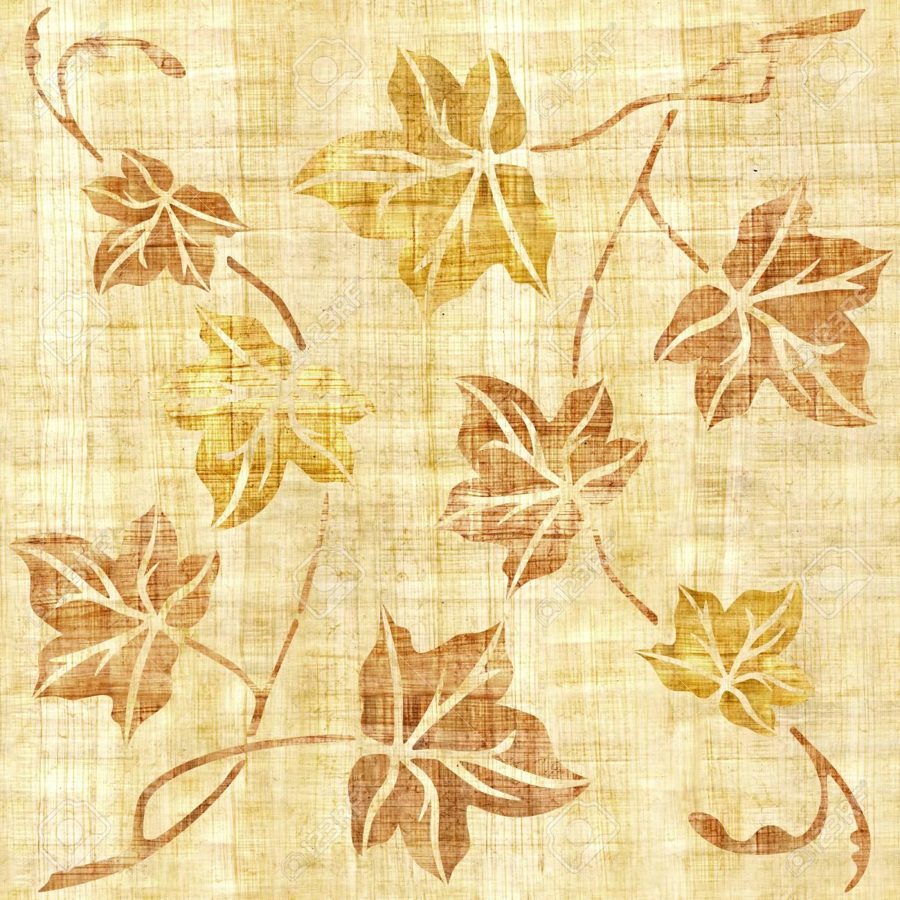 Decorative Tree Leaves - Seamless Background - Interior Wallpaper ...