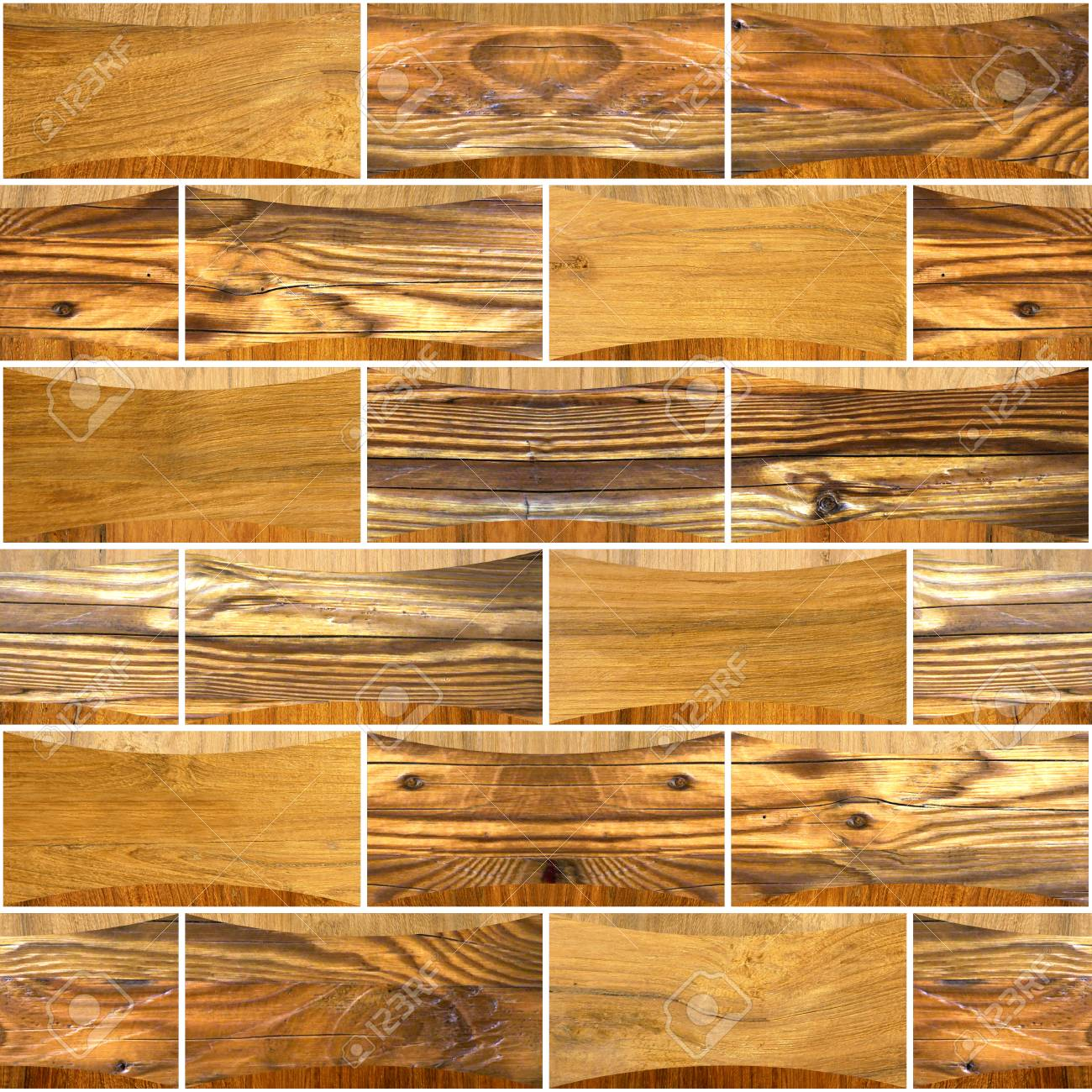 Decorative wooden bricks - Interior wall decoration - Abstract