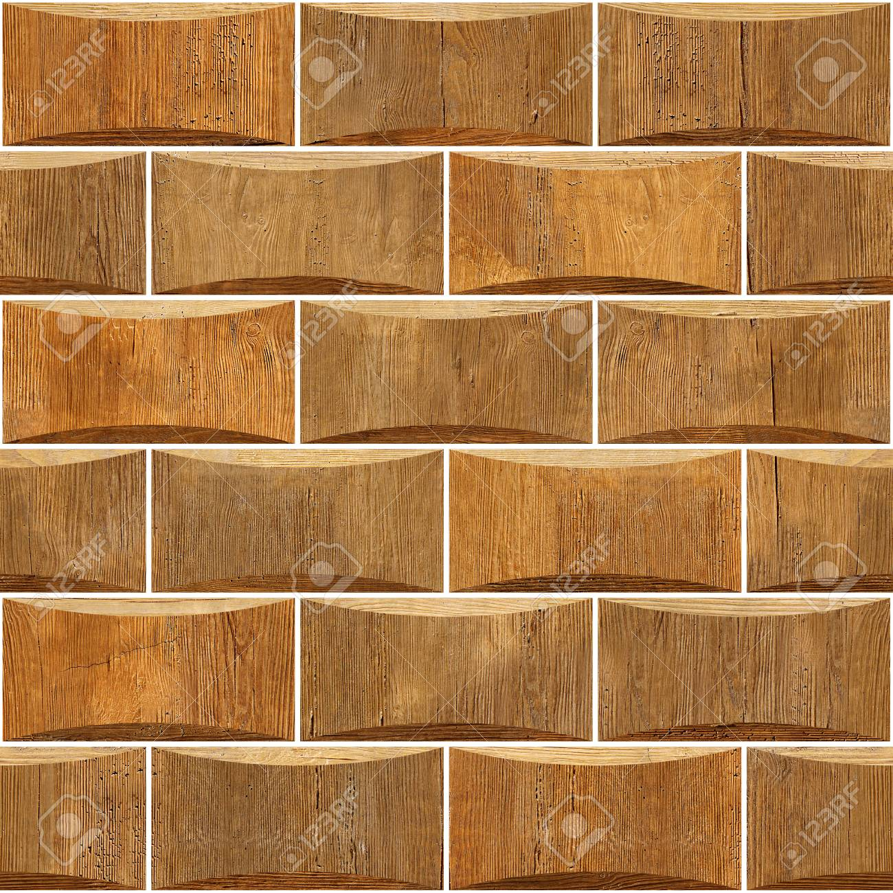 Decorative wooden bricks - Interior wall decoration - Abstract