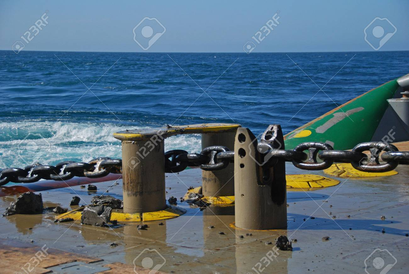 Chain secured in the shark yaw. Stock Photo - 4704620