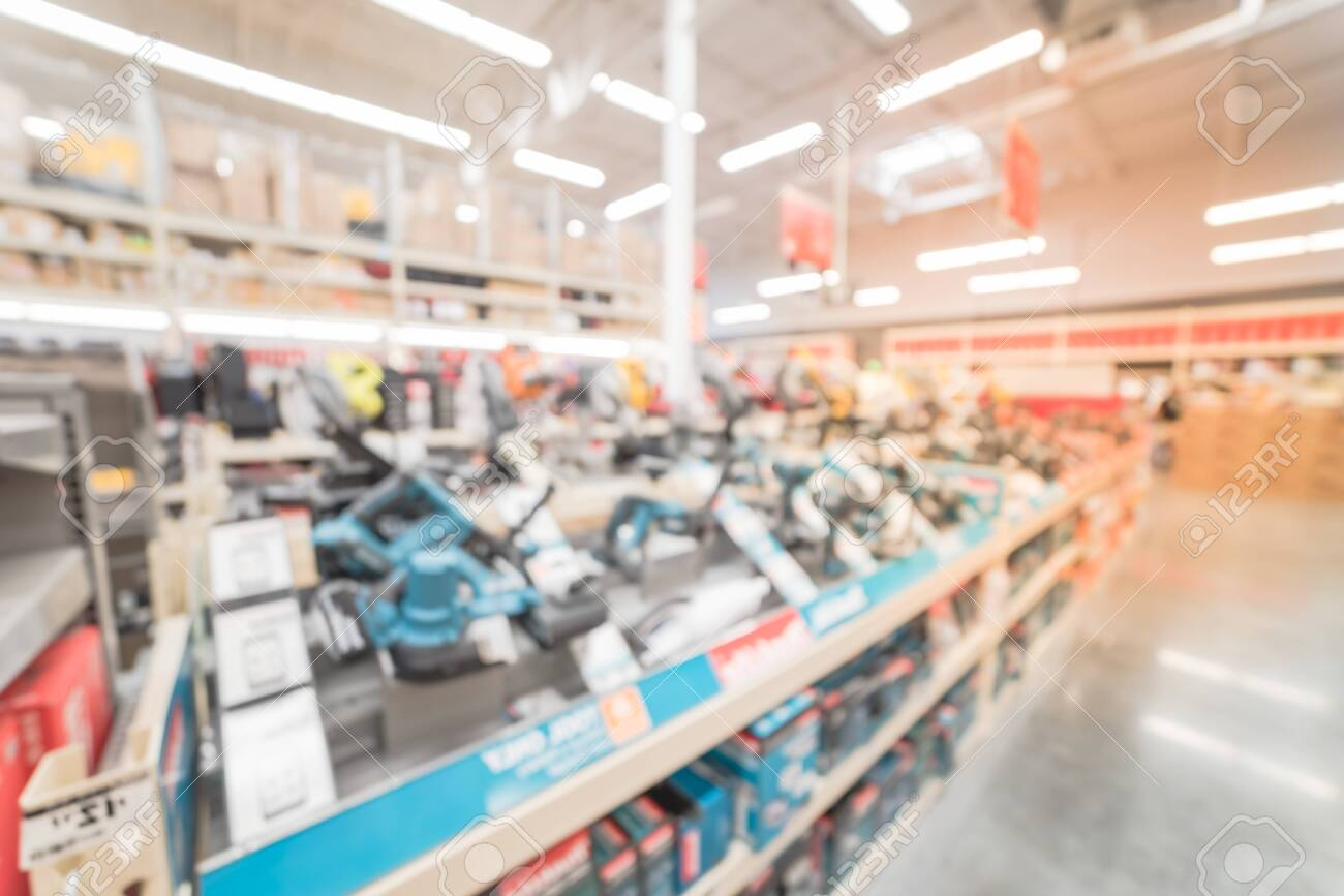 Blurry Background Variety Of Power Tools At American Home Improvement Stock Photo Picture And Royalty Free Image Image 125118700