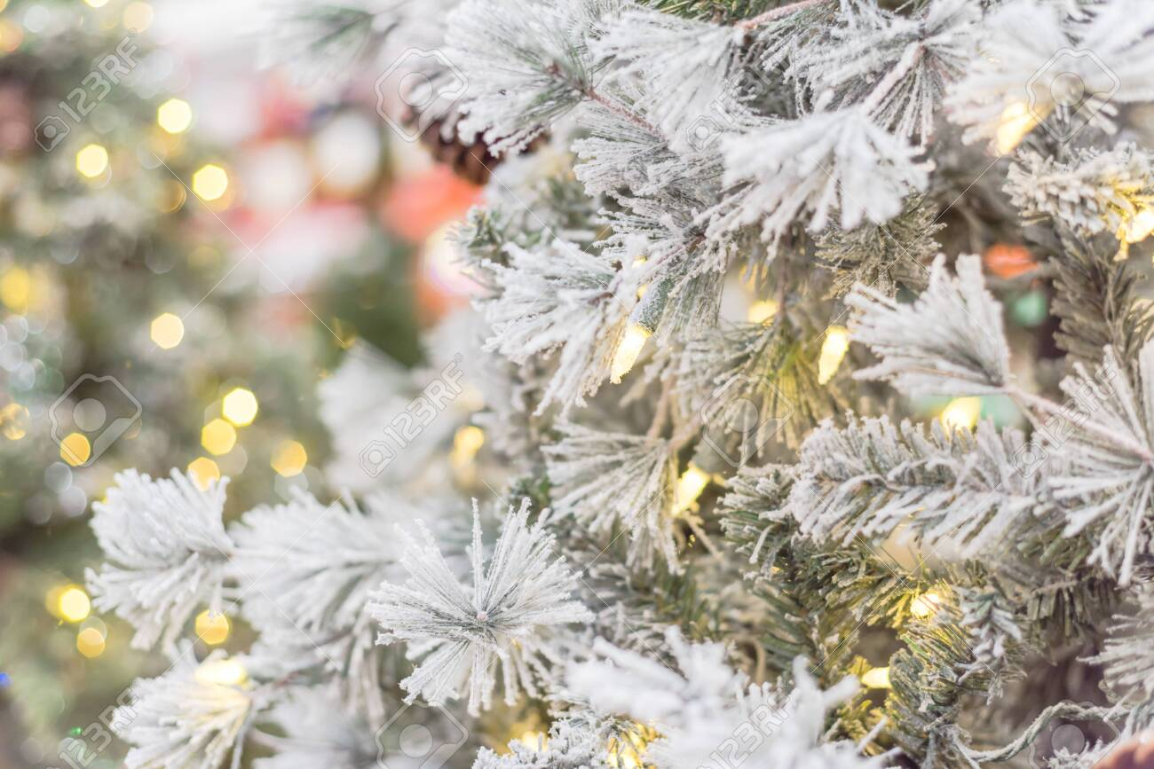 Beautiful White Artificial Christmas Tree With Microdot And Multi Lights Stock Photo Picture And Royalty Free Image Image 138198853