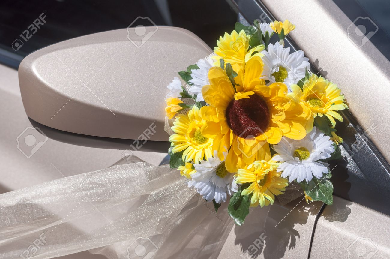 Wedding car decoration with artificial flower stock photo picture stock photo wedding car decoration with artificial flower junglespirit Choice Image
