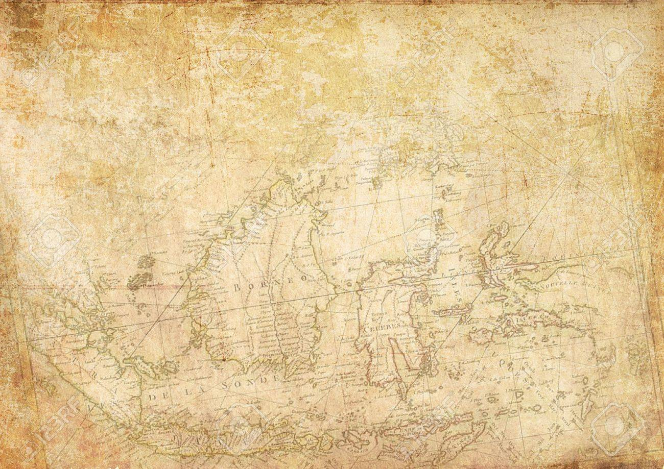 Indonesian Vintage Map Wallpaper Stock Photo, Picture And Royalty ...