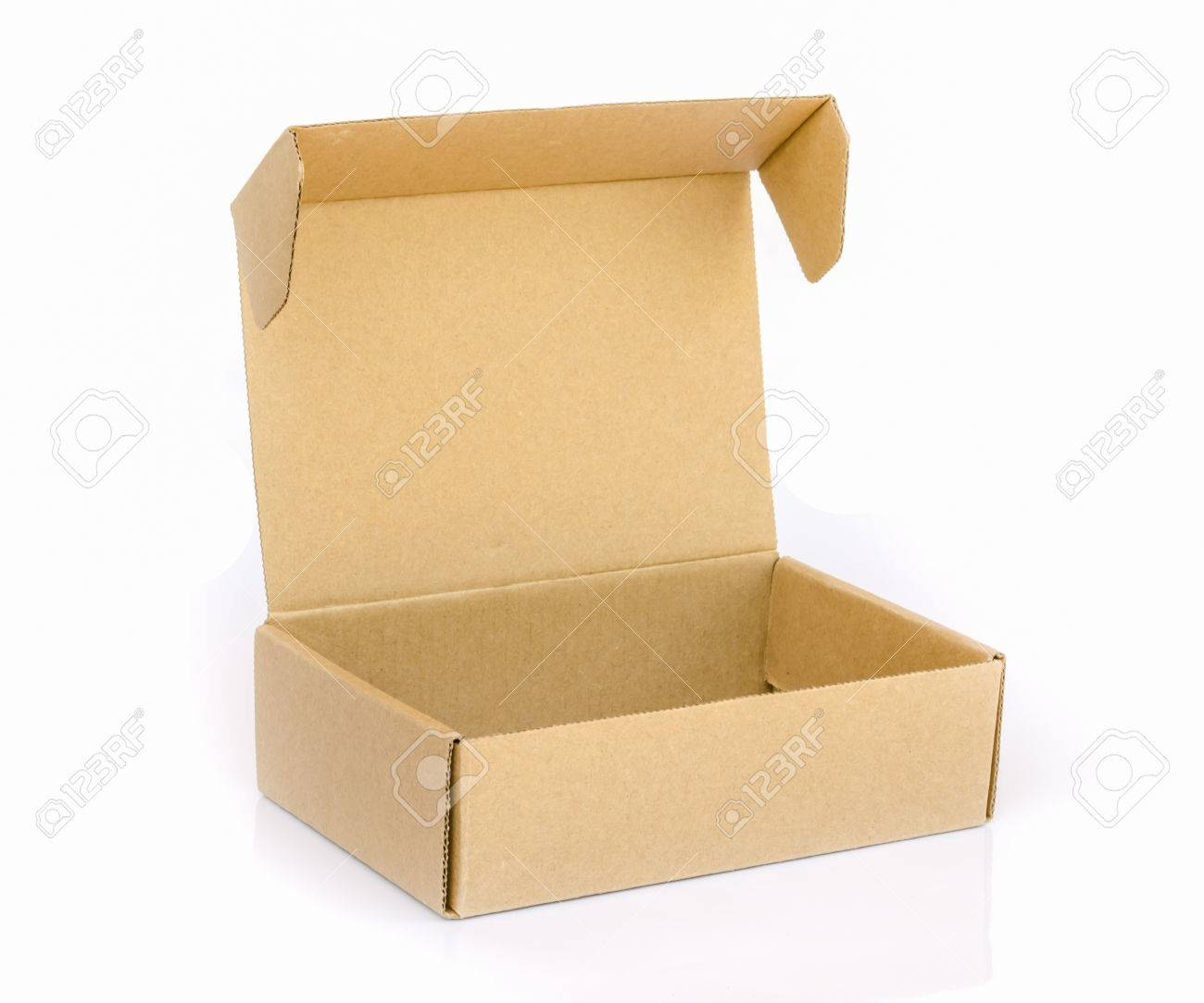 cardboard box isolated on a white background. - 38725917
