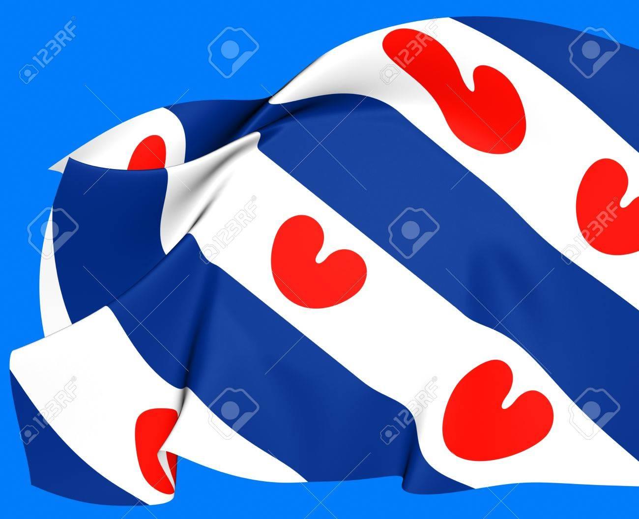 オランダ、フリースラント州の旗...