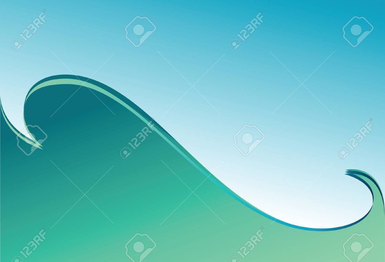 Green wave. Background. Vector illustration. Stock Vector - 3990407