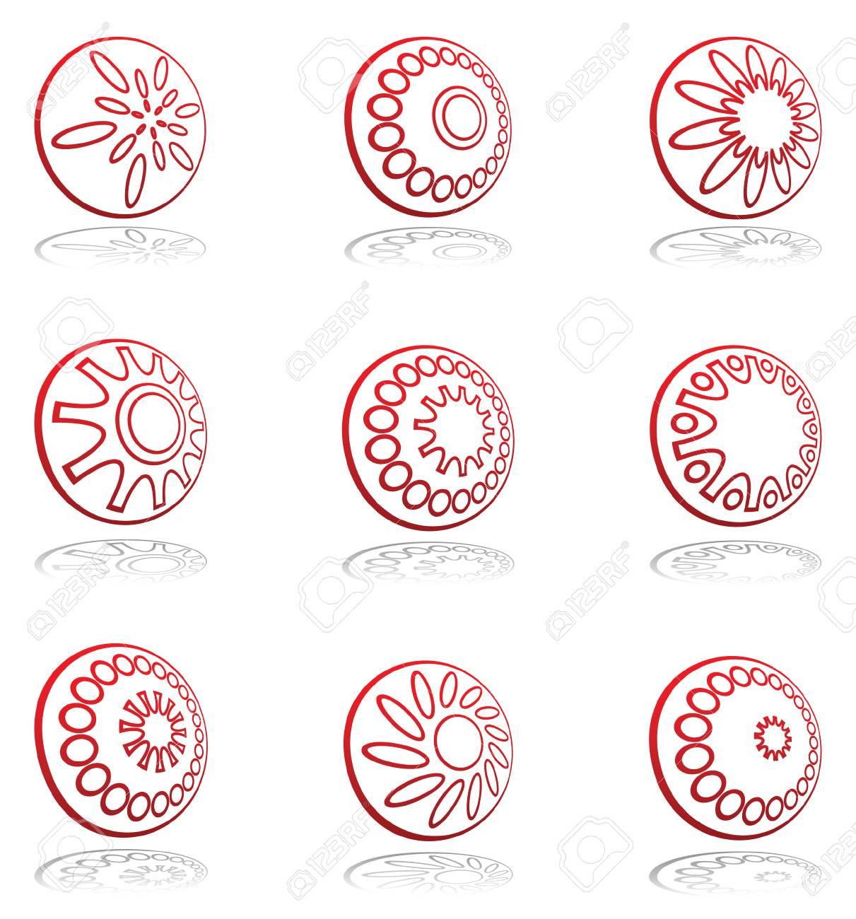 Design elements set. Vector. Stock Vector - 5608158