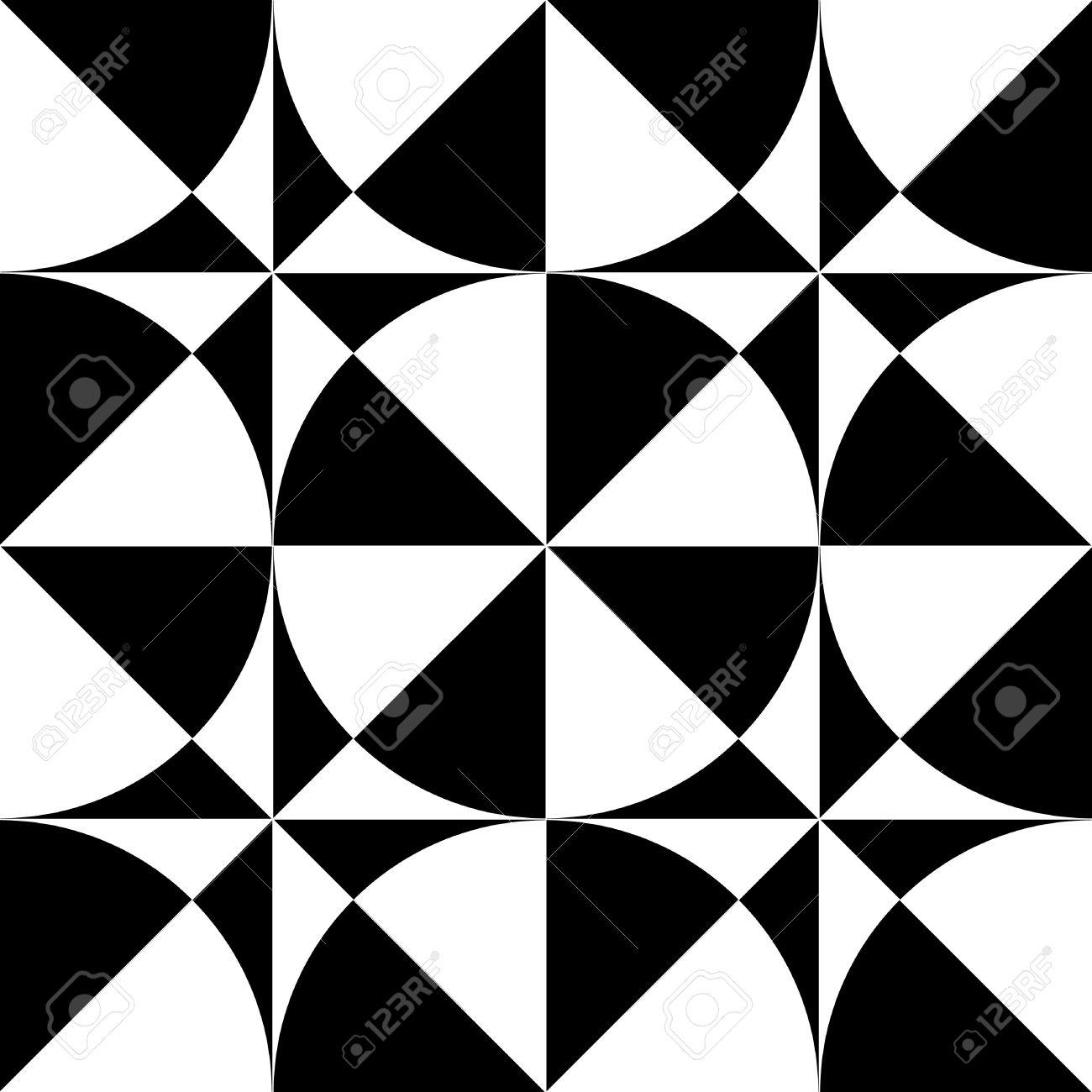 Seamless geometric  op art design. Vector illustration. Stock Vector - 9301146