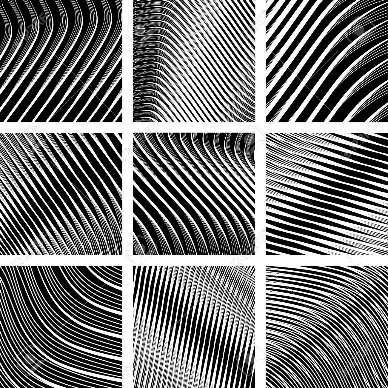 Abstract textured backgrounds in op art design Stock Vector - 9334495