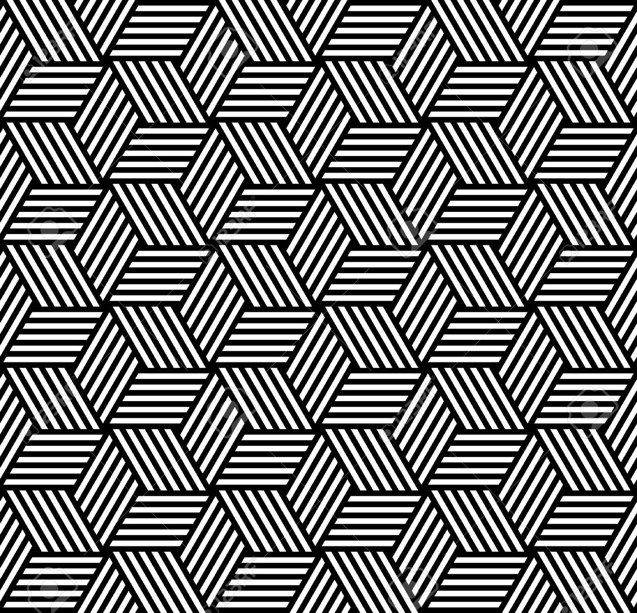 Gallery Of Seamless Geometric Pattern In Op Art Design Vector Art Stock  Vector With Pattern Geometric