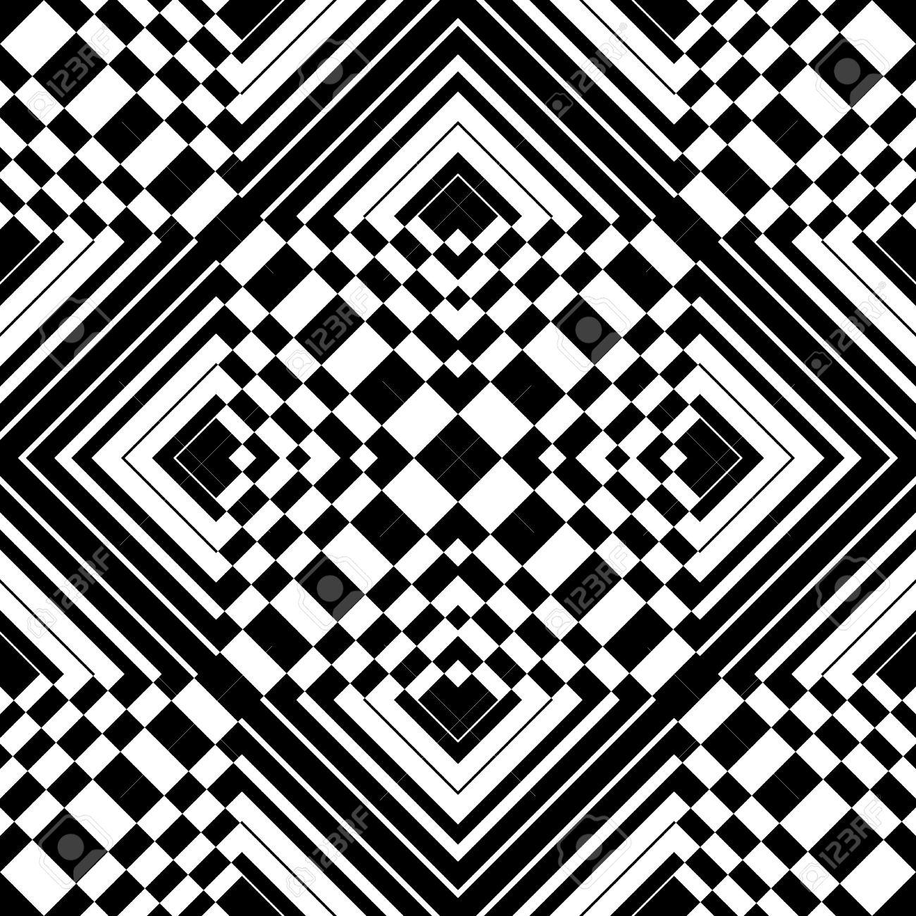 Seamless op art pattern. Vector illustration. Stock Vector - 12183412