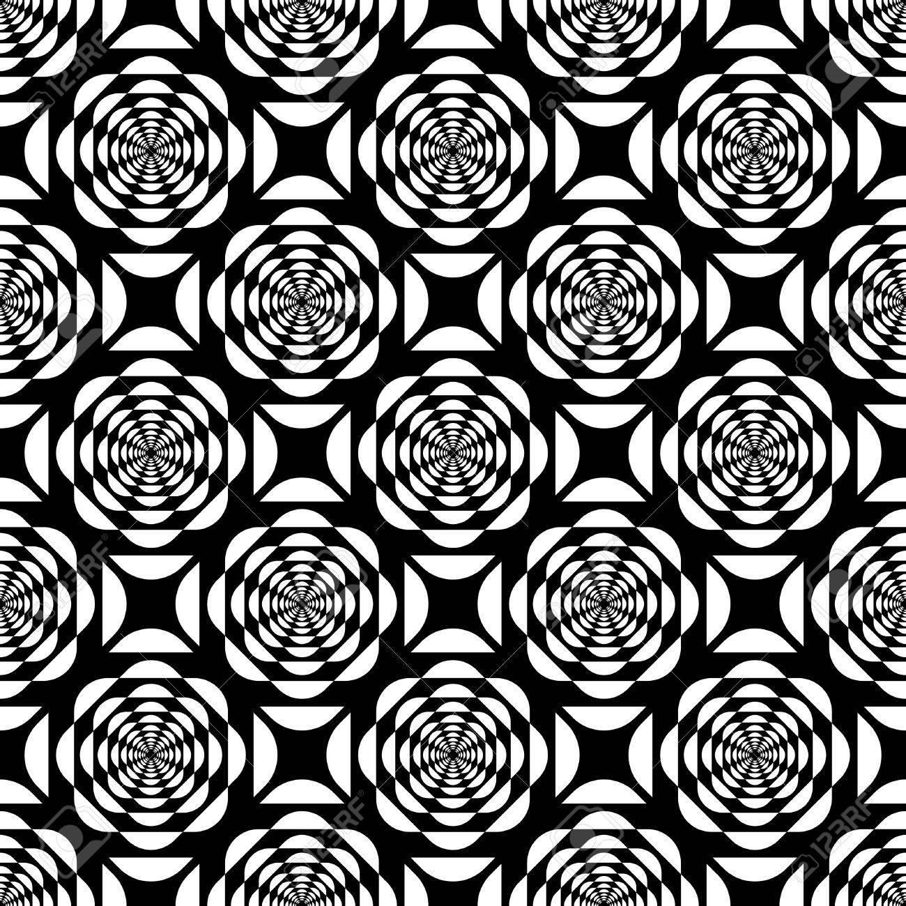 Seamless op art pattern. Vector illustration. Stock Vector - 12369112