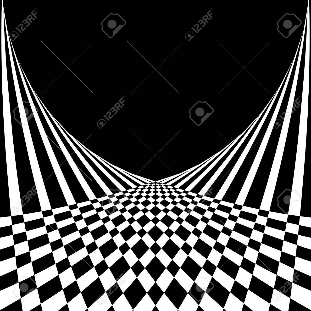 Optical illusion. Abstract background in op art style. Vector illustration. - 12927316