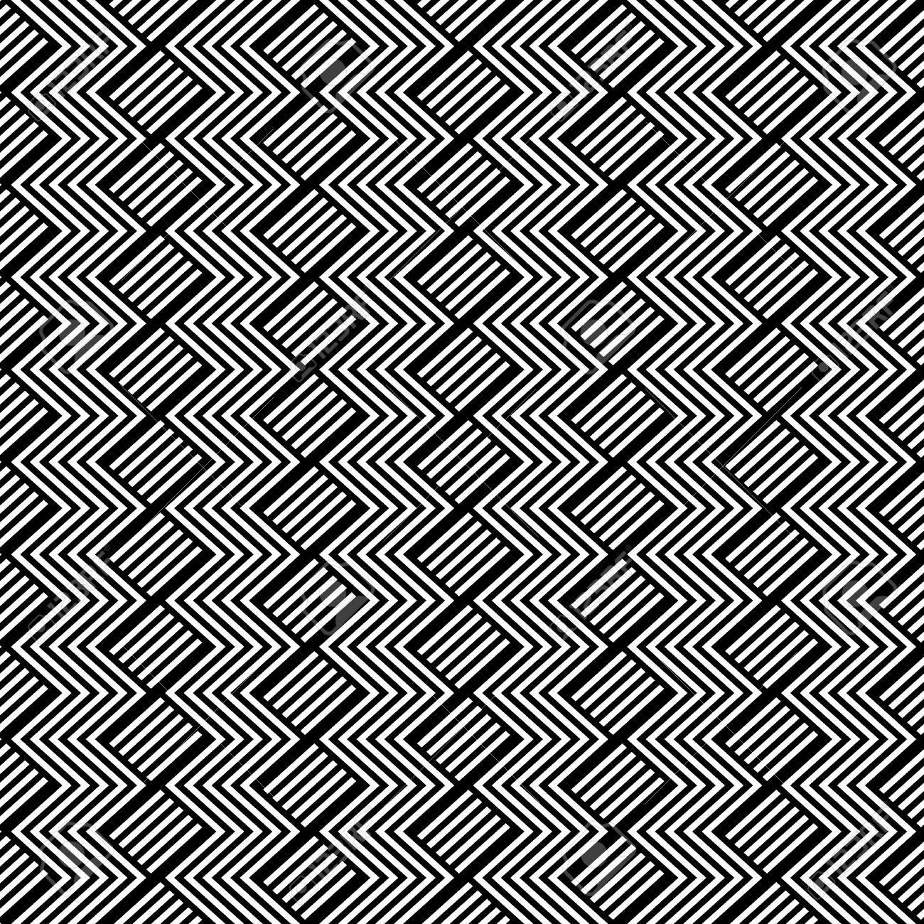 Seamless geometric pattern with zigzag texture. Vector art. - 13023054