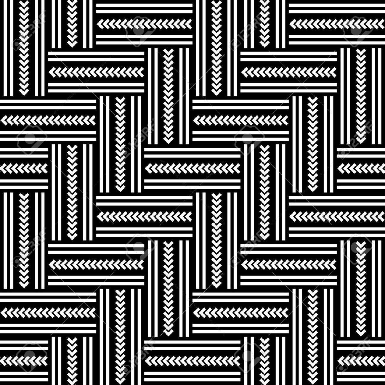 Seamless geometric herringbone pattern. Vector art. - 13659080