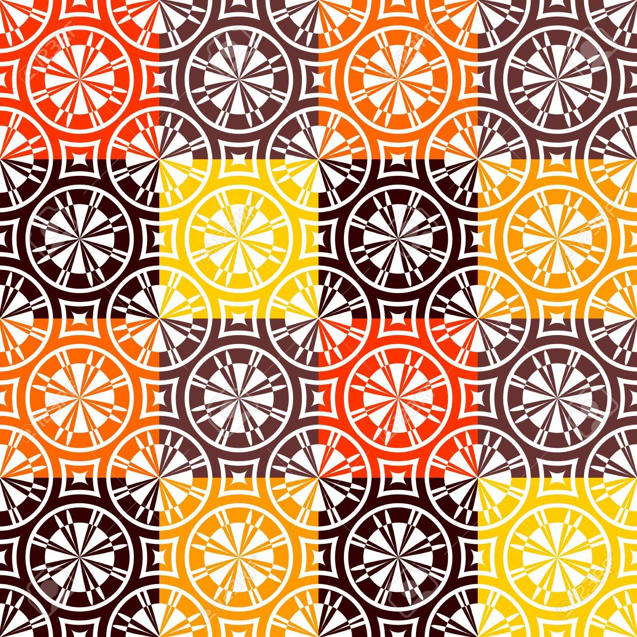 Seamless checked pattern in warm colors - 14088637