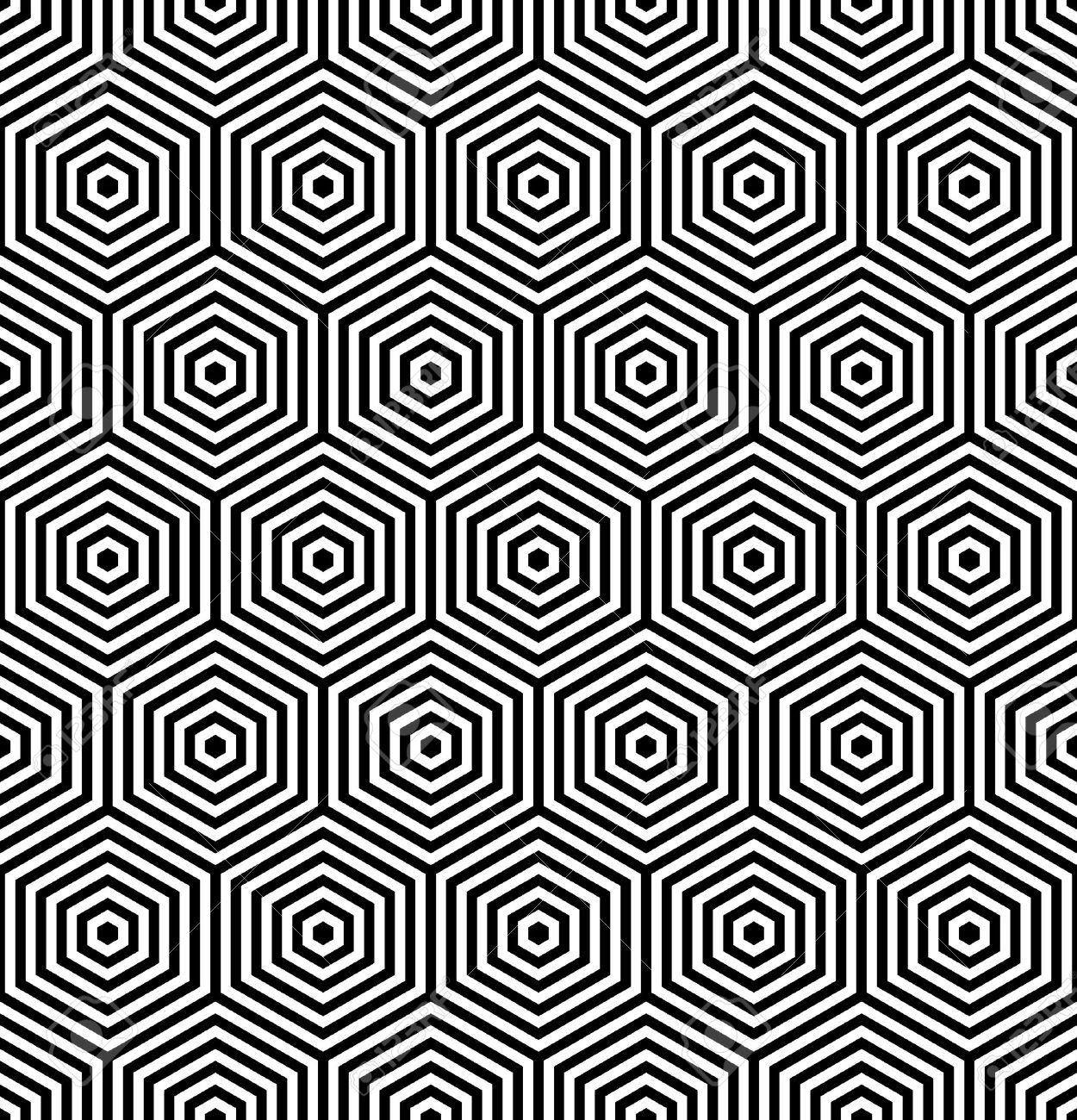 Hexagons Seamless Texture. Geometric Pattern. Vector Art. Stock Vector    14497543