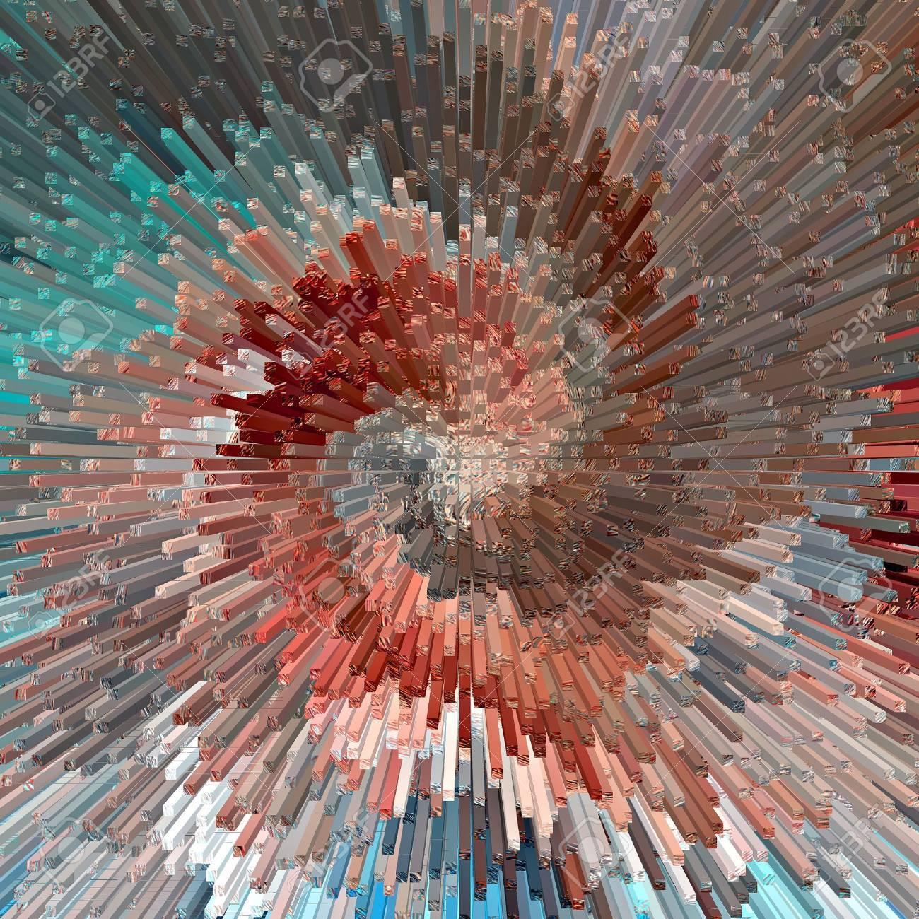 Burst, abstract textured background, illustration Stock Illustration - 15628004