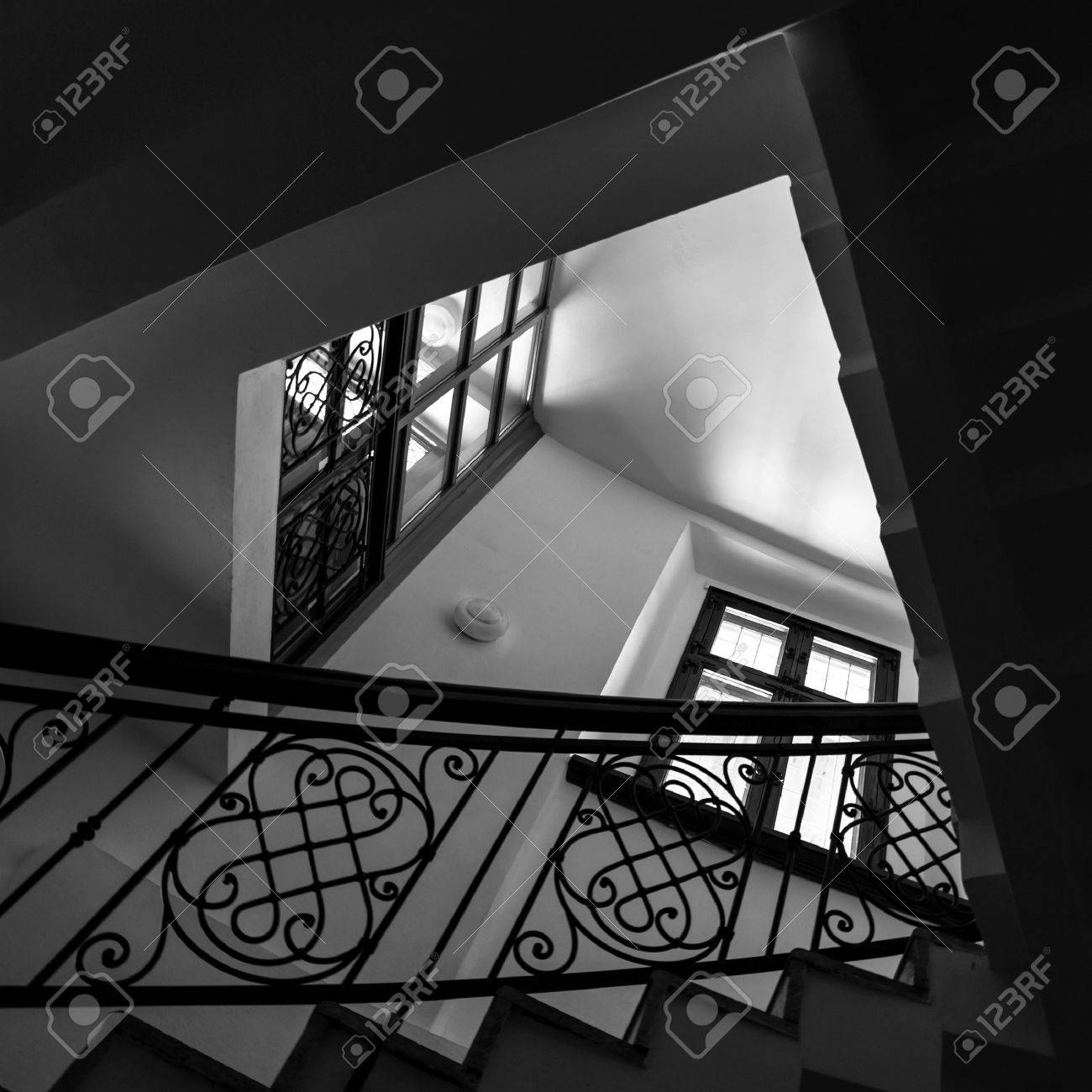 Staircase interior  Architectural background Stock Photo - 15873684