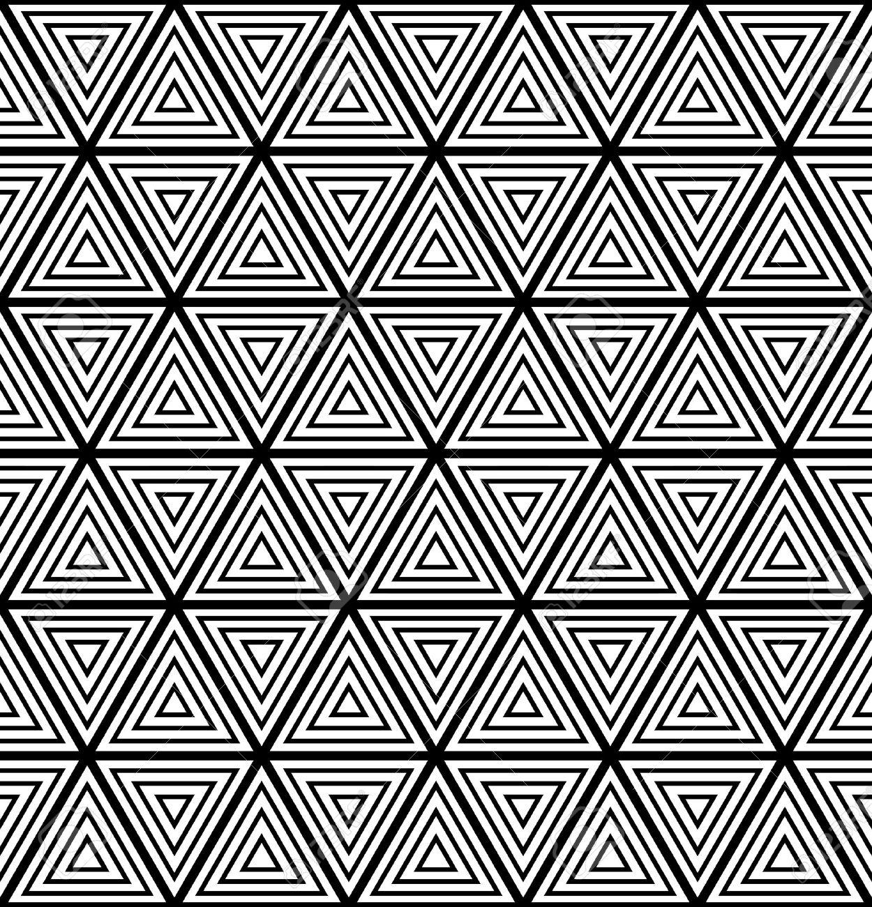 Seamless geometric pattern. Vector art. - 17441568
