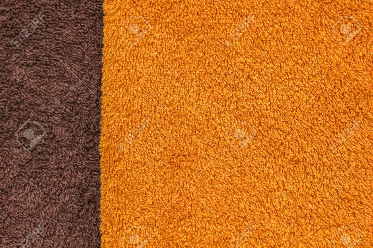 Orange and brown towel texture Stock Photo - 23009232