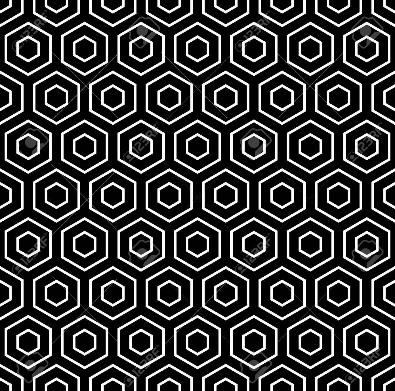 Hexagons texture Seamless geometric pattern Vector art - 24090271