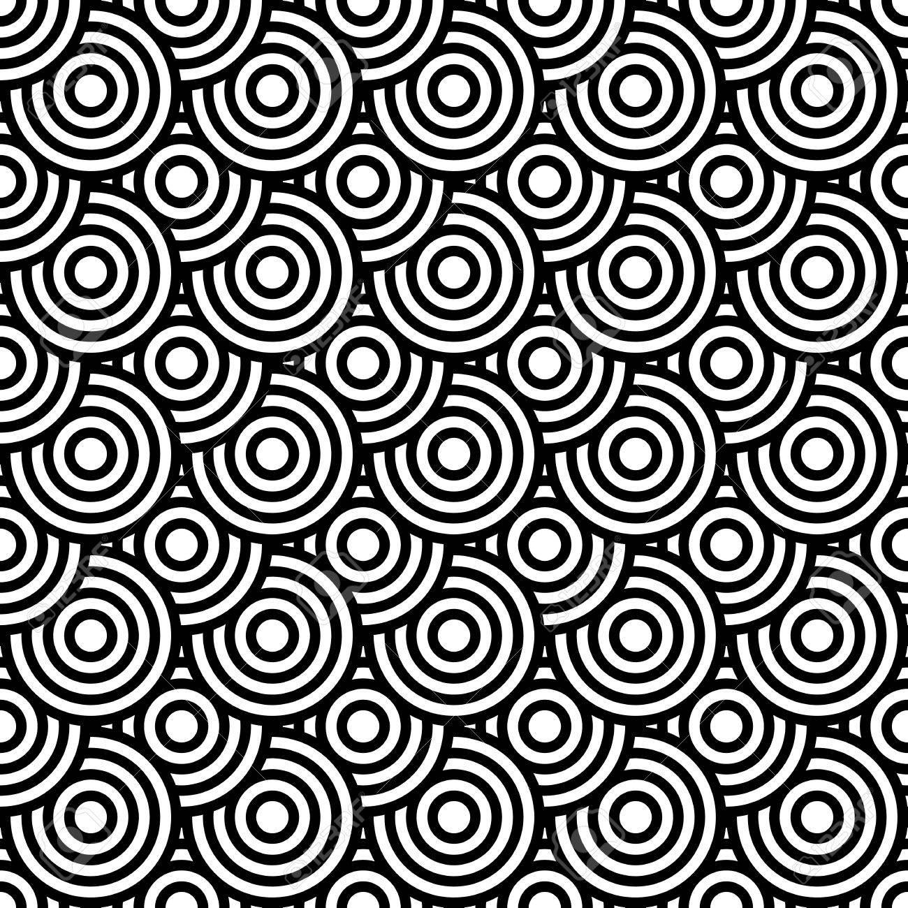Seamless op art texture with circle elements. Vector art. Stock Vector - 24928811